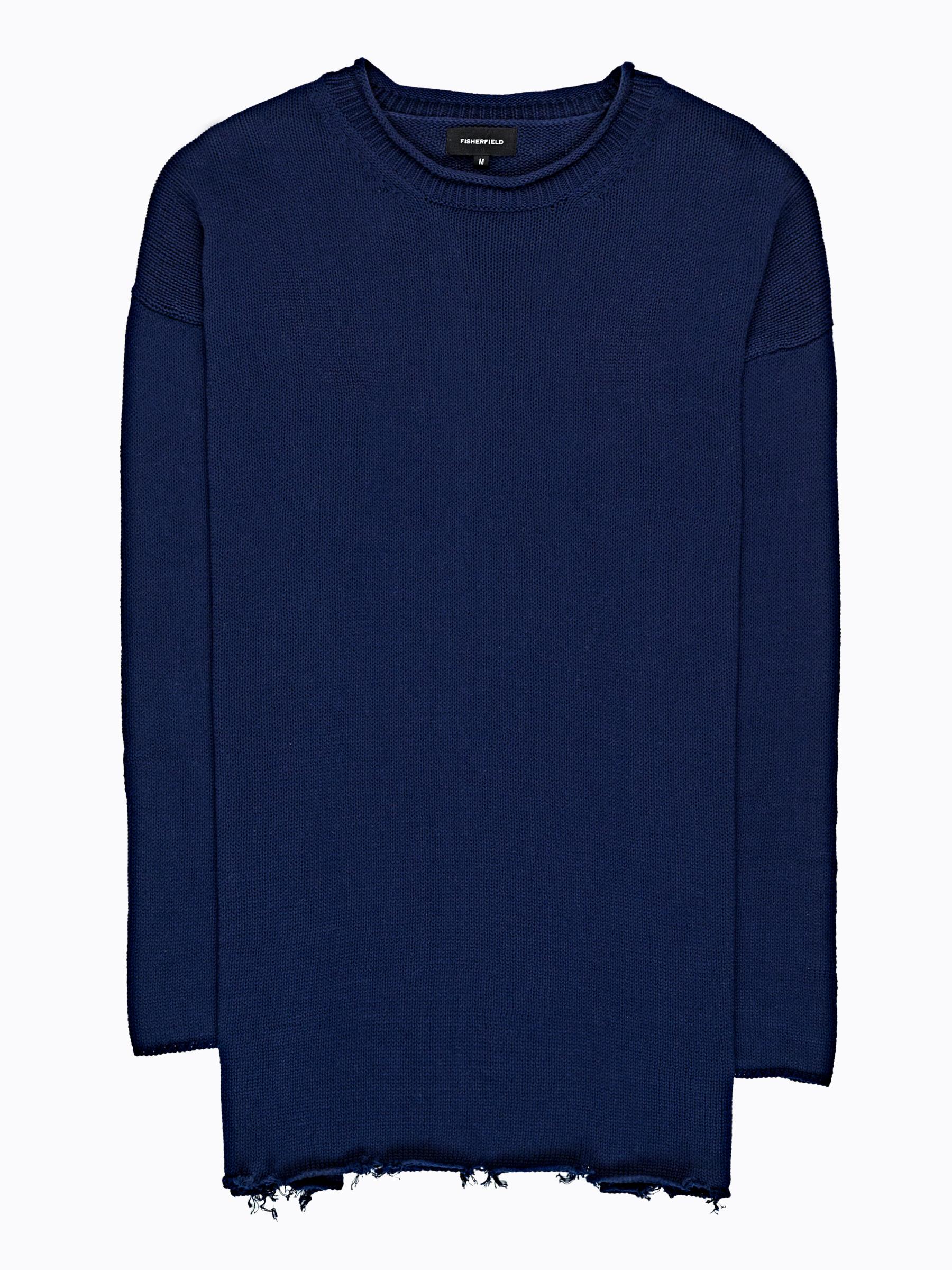 GATE Široký pulover s neopracovaným lemom
