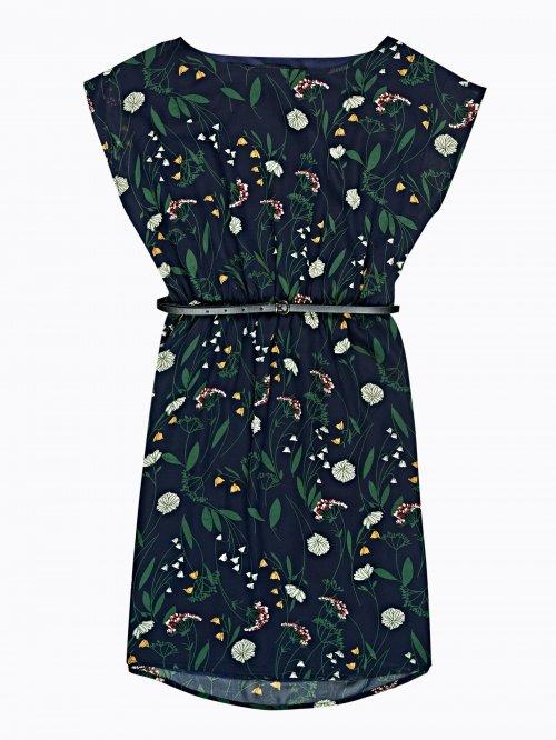 c79317eb1b Šifónové šaty s kvetinovou potlačou