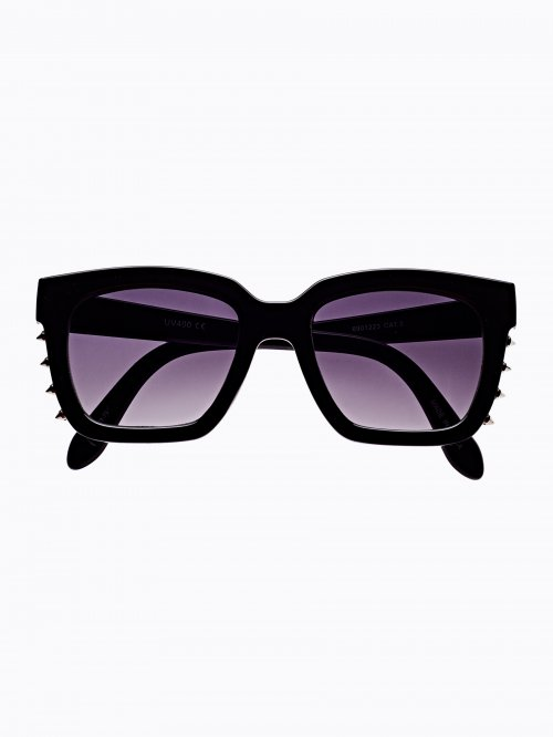 SQUARE SUNGLASSES WITH SIDE STUDS