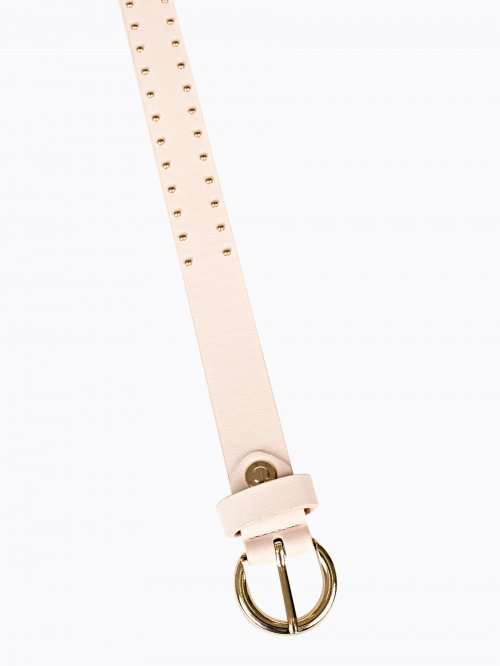 STUDDED BELT WITH ROUND BUCKLE