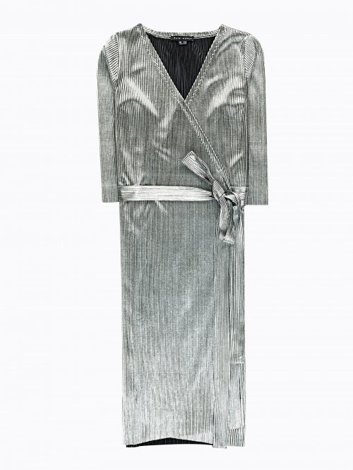 ceb63c211693 Strieborné zavinovacie šaty