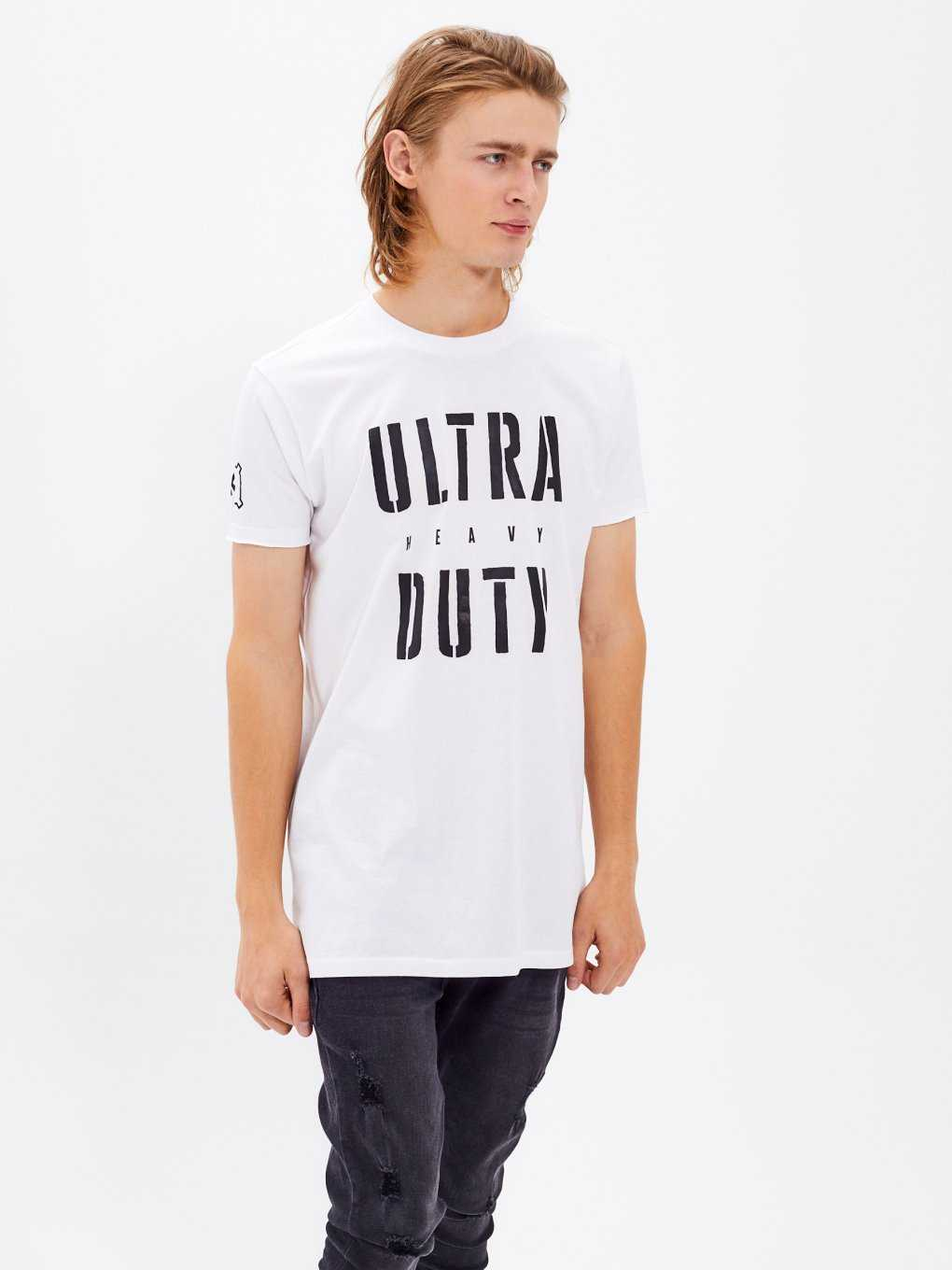 LONGLINE MESSAGE PRINT T-SHIRT