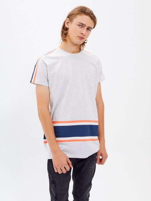 TAPED T-SHIRT WITH STRIPES