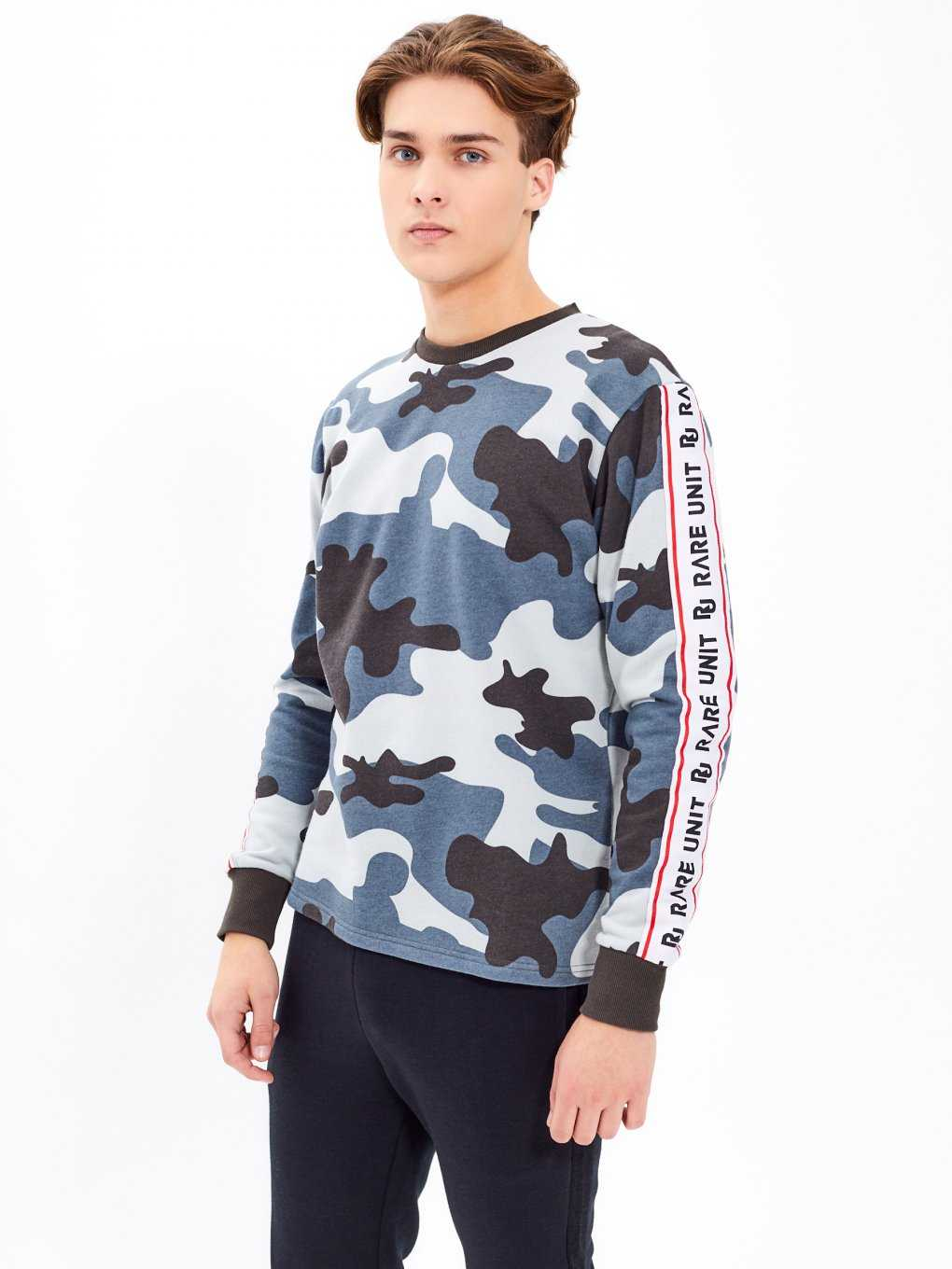 TAPED CAMO PRINT SWEATSHIRT