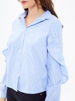 STRIPED SHIRT WITH RUFFLES