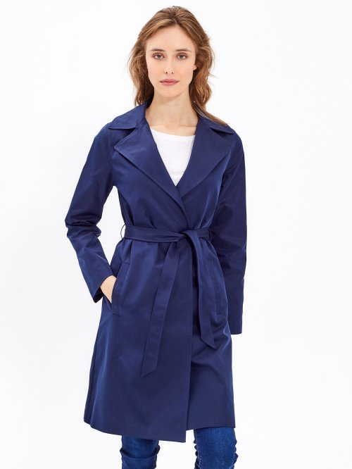 Basic coat with belt