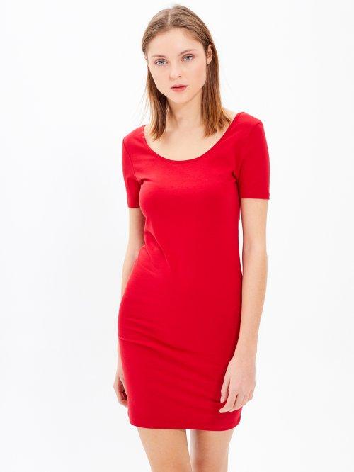 Základní pouzdrové žerzejové šaty 58bd63406e