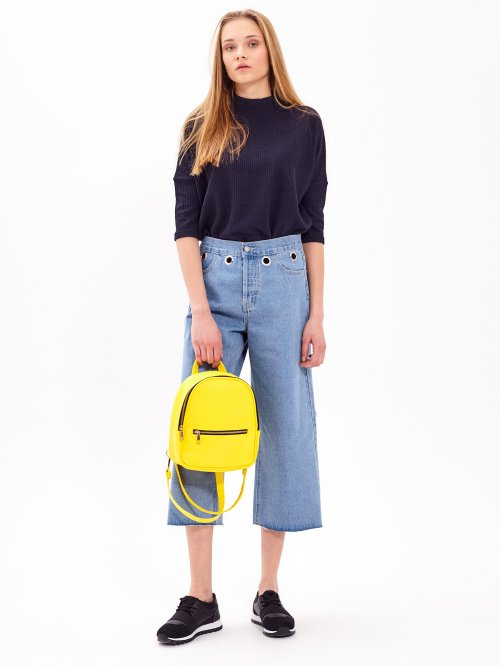 DENIM CULOTTES WITH EYELETS