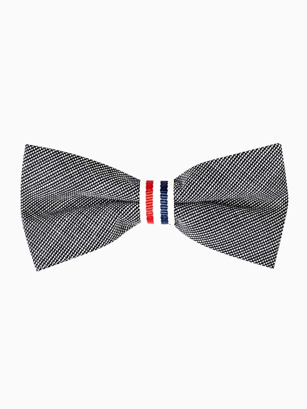 Bow tie with striped tape