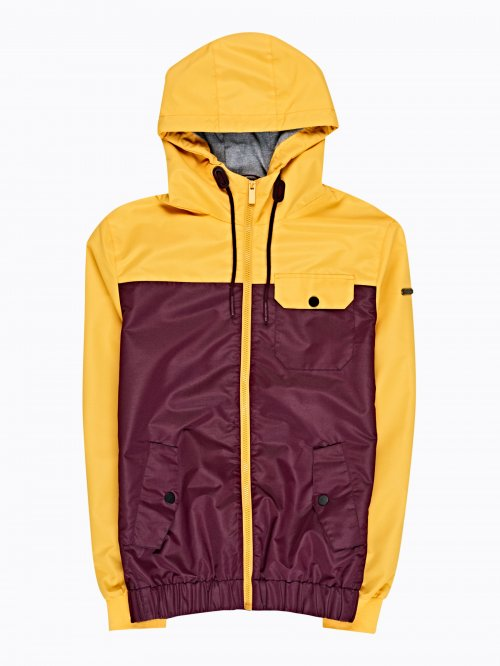 Vícebarevná bunda s kapucí a00fdaa877a