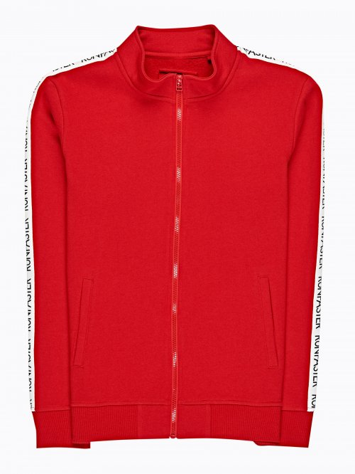 TAPEED ZIP-UP SWEATSHIRT