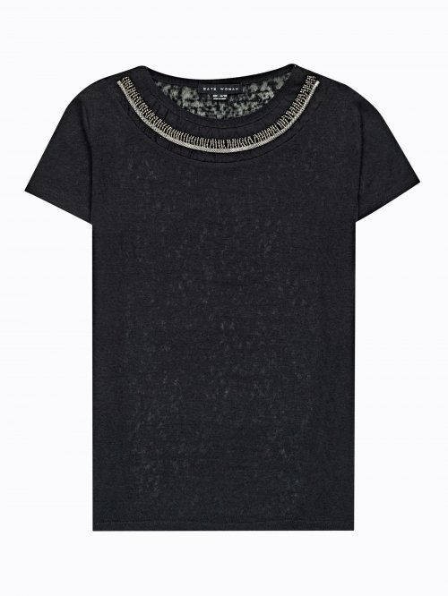 T-shirt with embellishment