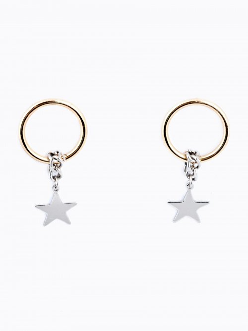 EARRINGS WITH STAR PENDANT