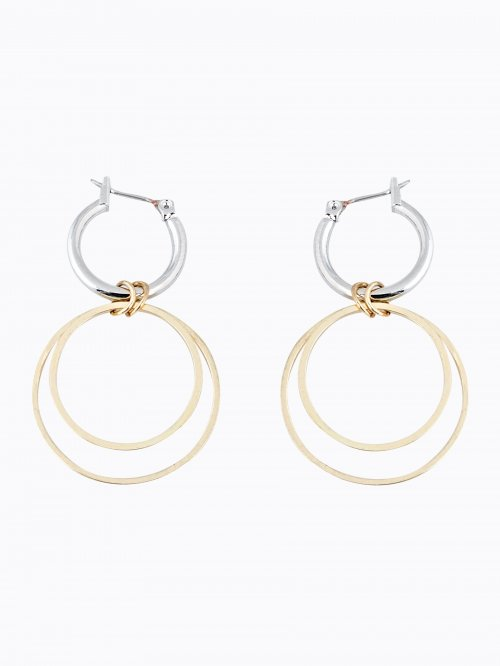 HOOP EARRINGS WITH PENDANT
