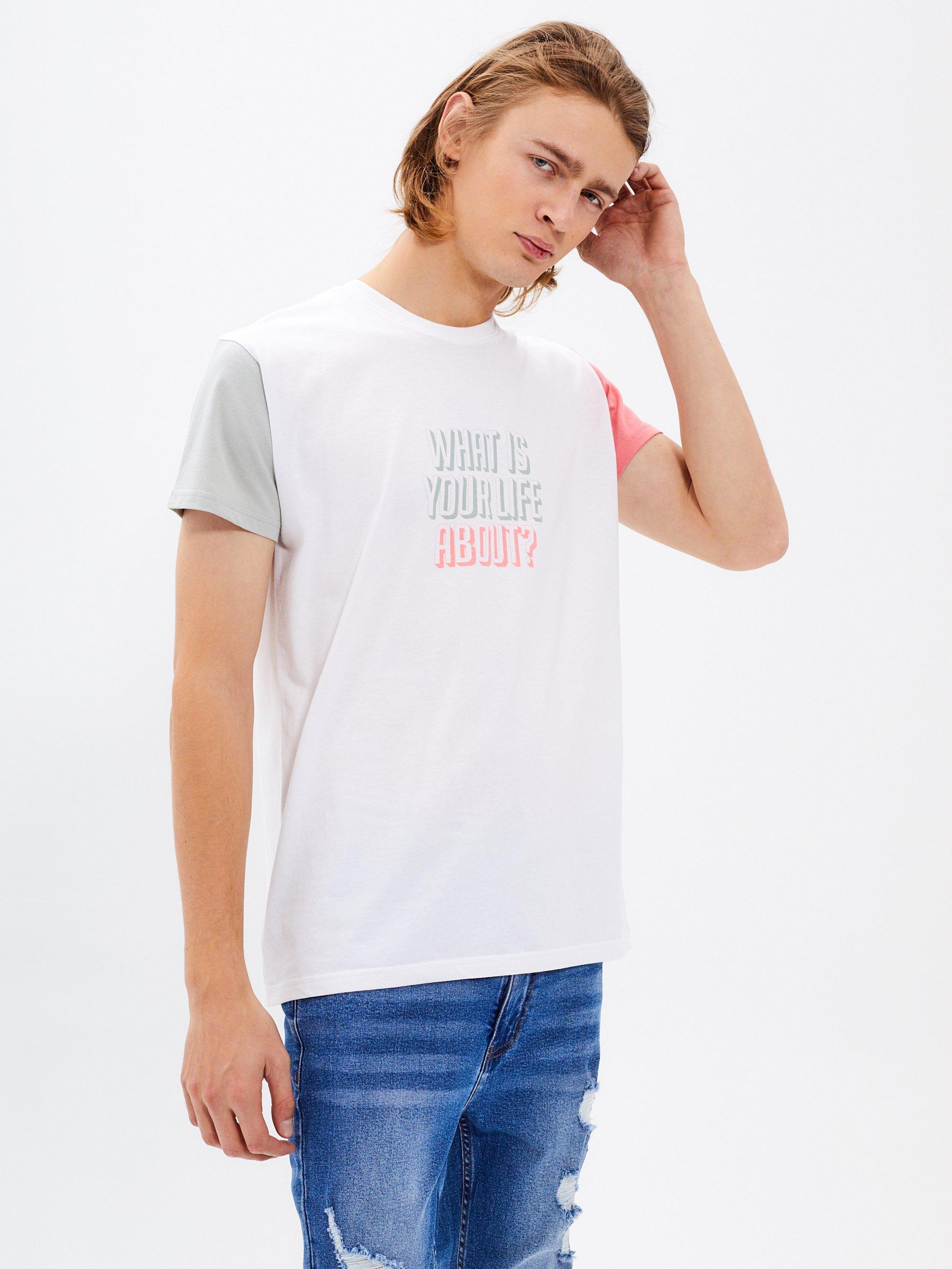 Tričko s kontrastními rukávy  0baa435dbc