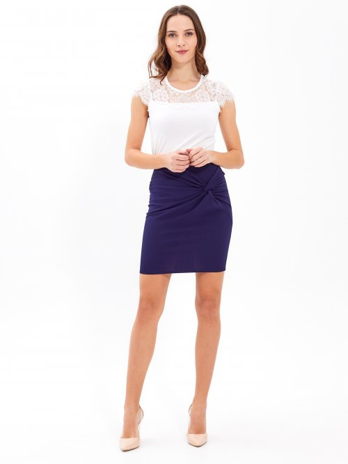 TWIST FRONT BODYCON SKIRT