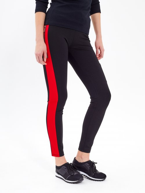 SLIM TROUSERS WITH SIDE STRIPE