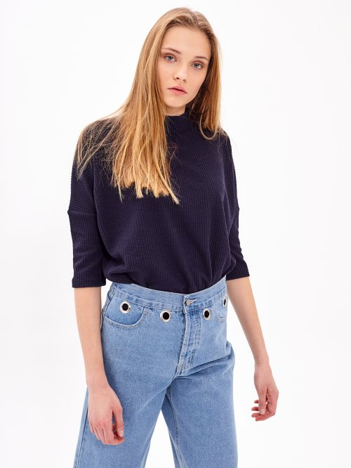 Oversized plain jumper