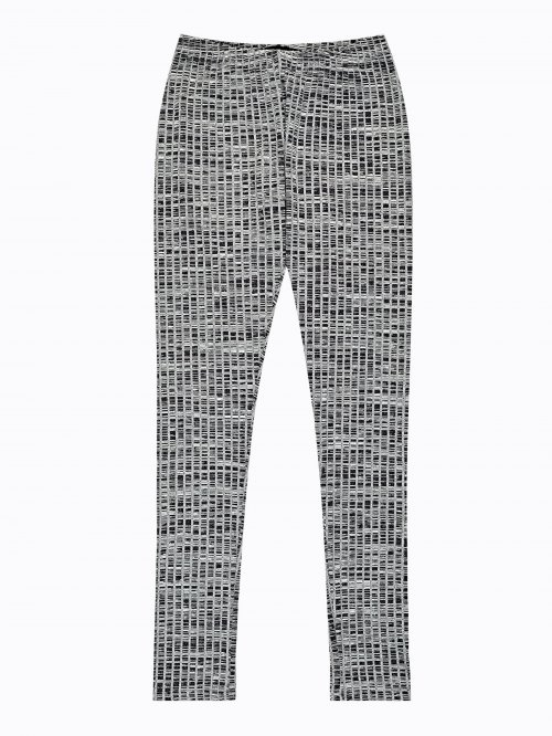 Rib-knit leggings