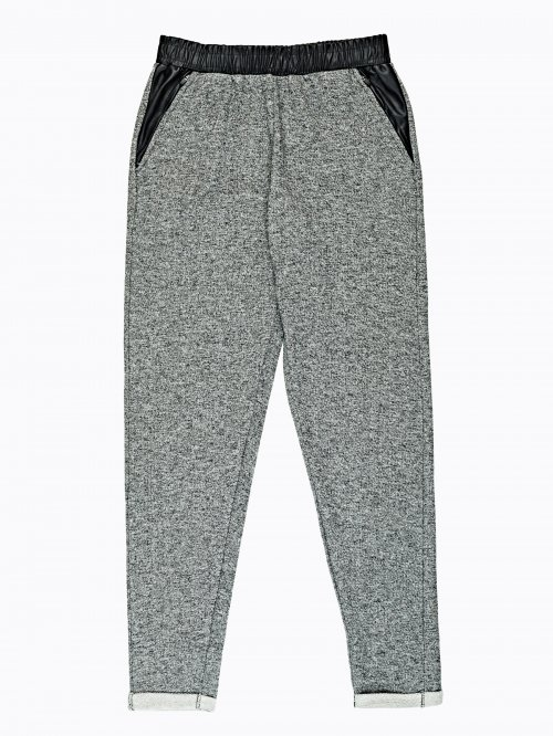 Marled combined sweatpants
