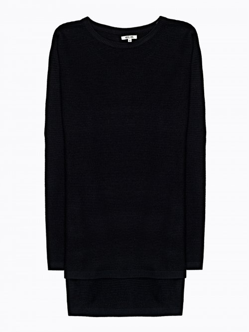 Structured jumper with side zippers
