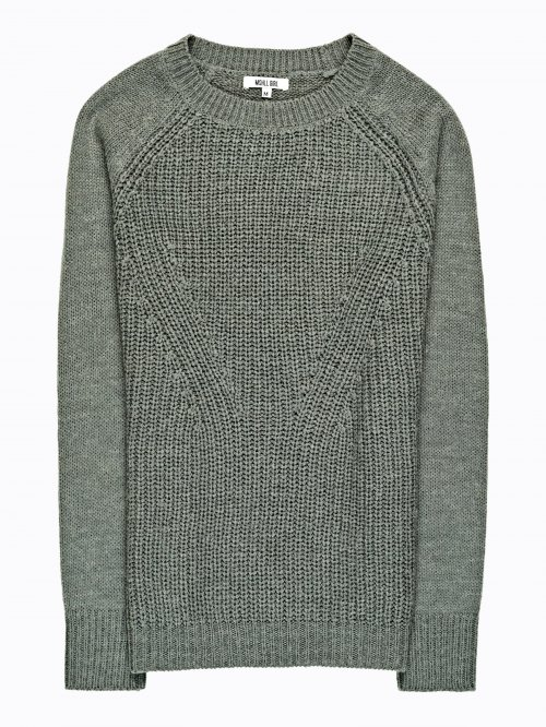 Structured pullover in wool blend
