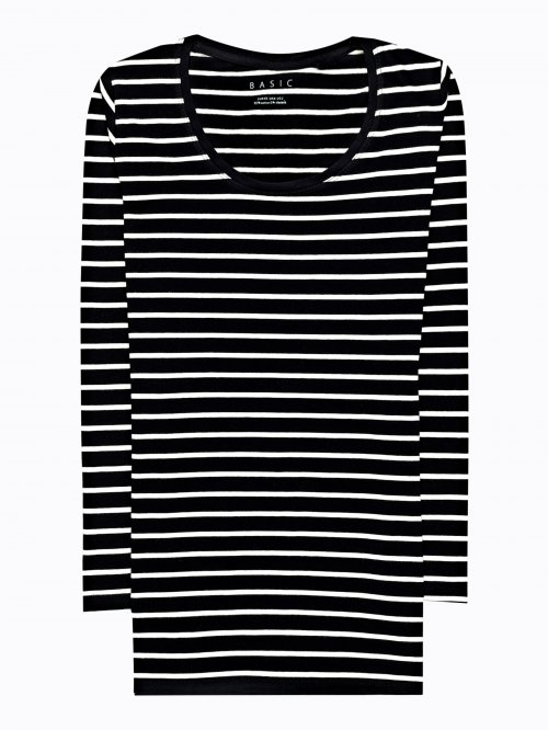Striped stretch t-shirt