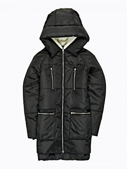 Quilted jacket with side zippers