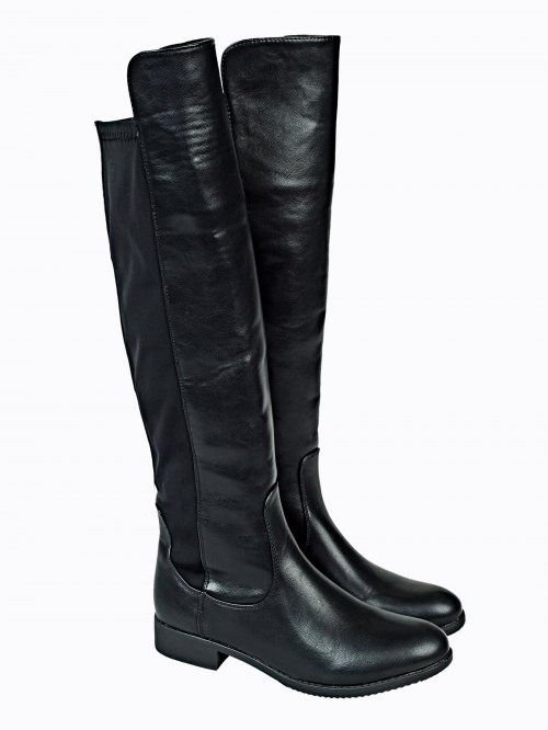 Combined knee-high boots