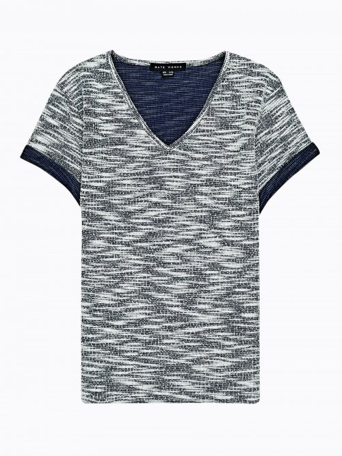 Marled v-neck t-shirt