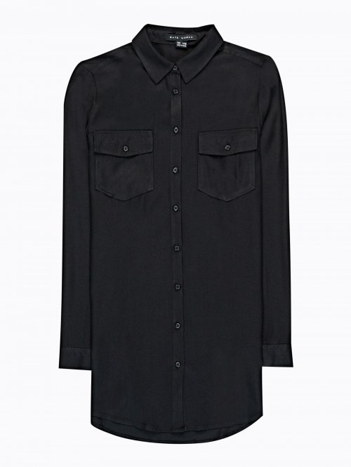LONGLINE SHIRT WITH CHEST POCKETS