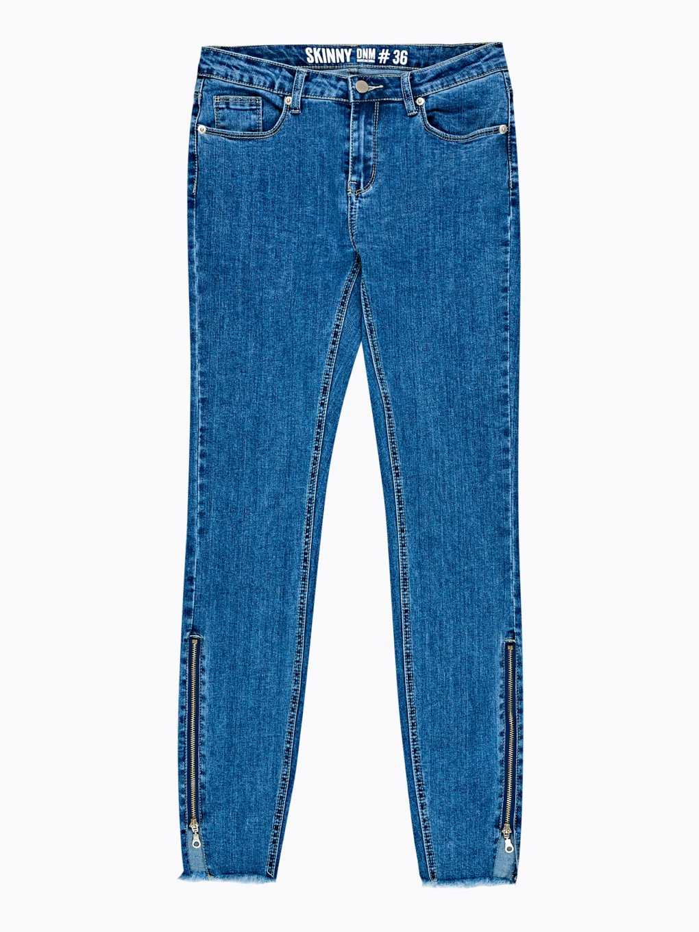 Skinny jeans with zipper on hem