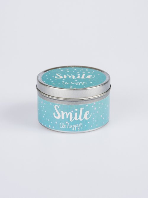 Scented candle in can