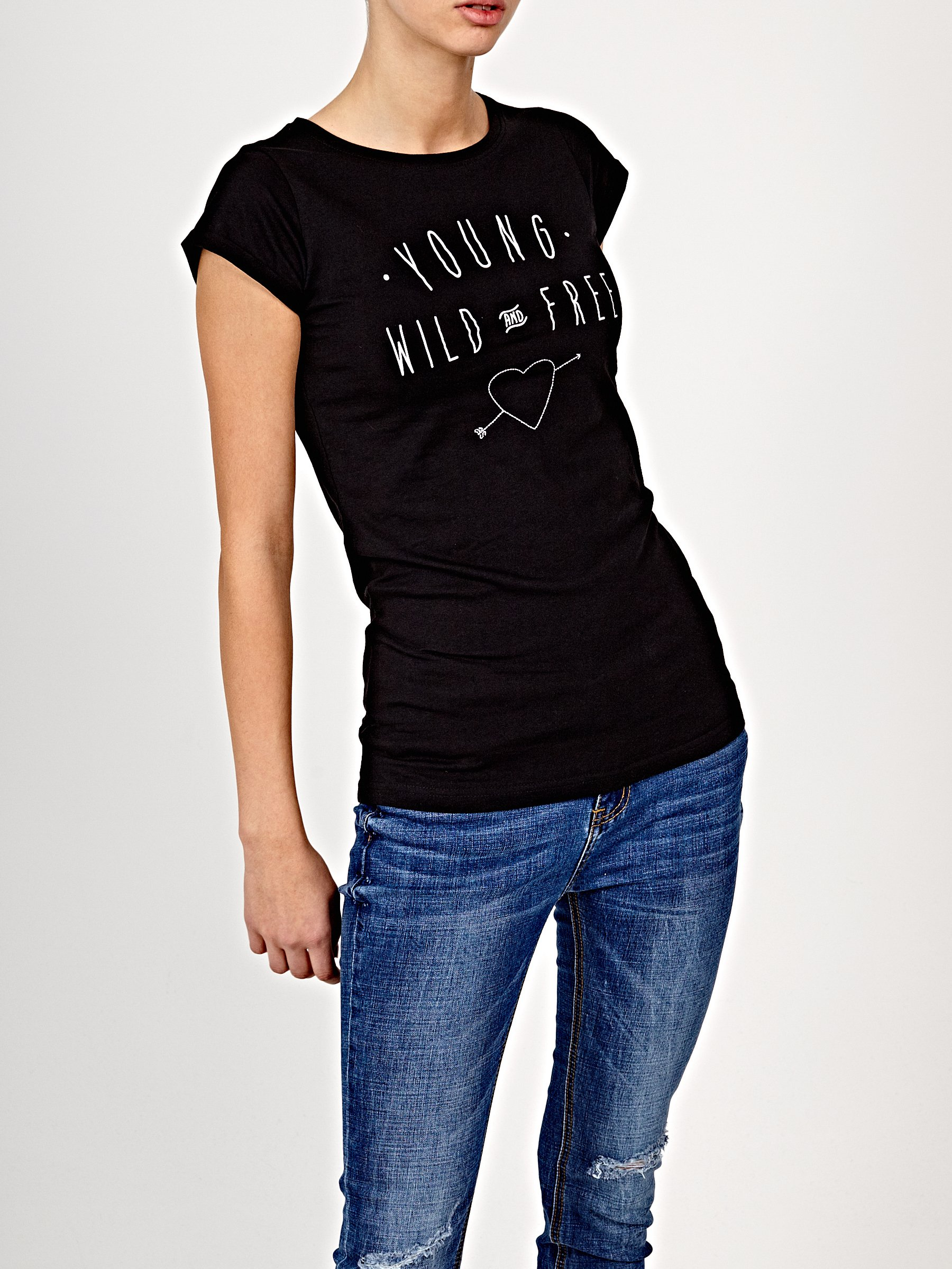 Printed T Shirt With Embro Detail Gate