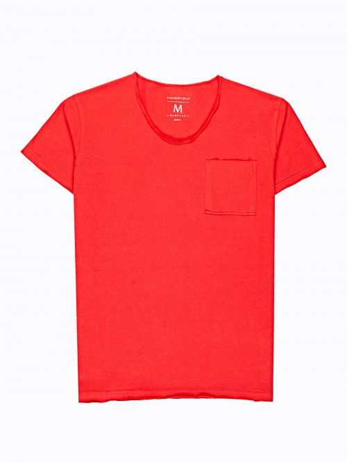 Basic slim fit t-shirt with pocket