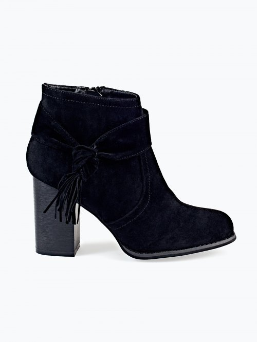 Ankle booties with knot detail