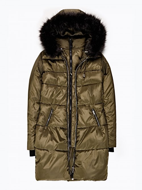 Prolonged jacket with hood