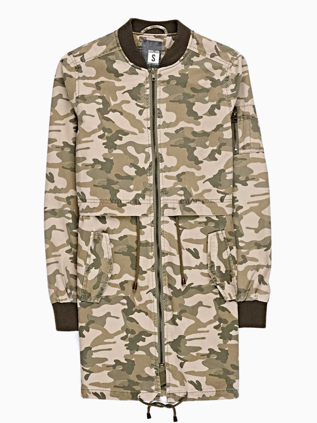CAMO PRINT COTTON PARKA