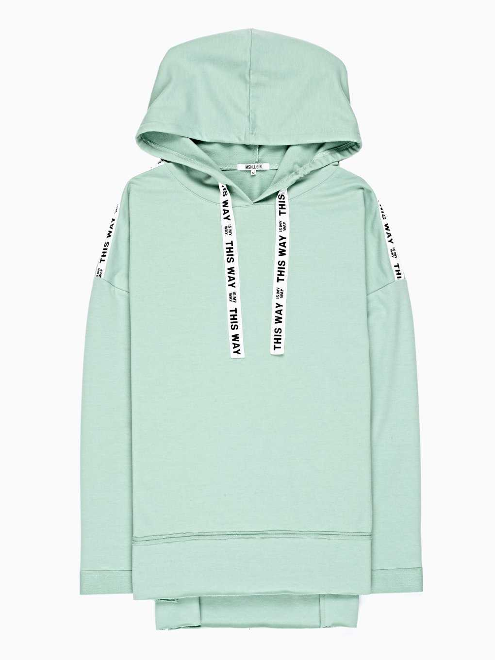 HOODIE WITH PRINTED TAPES