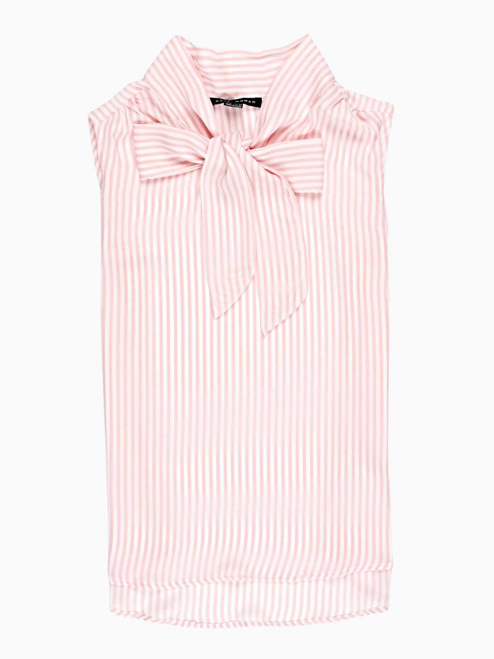 BOW TIE STRIPED SLEEVELESS TOP