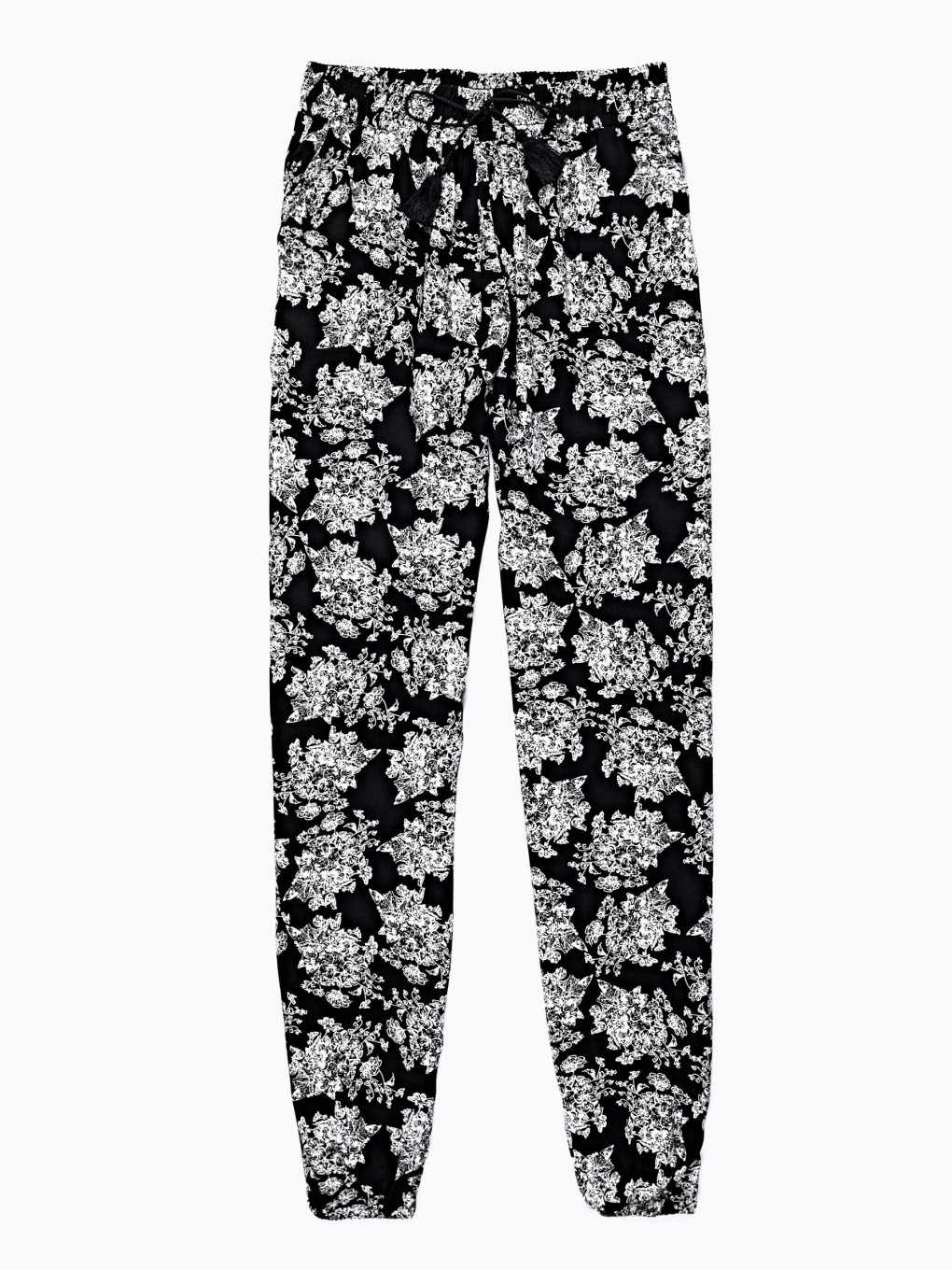 PRINTED VISCOSE TROUSERS