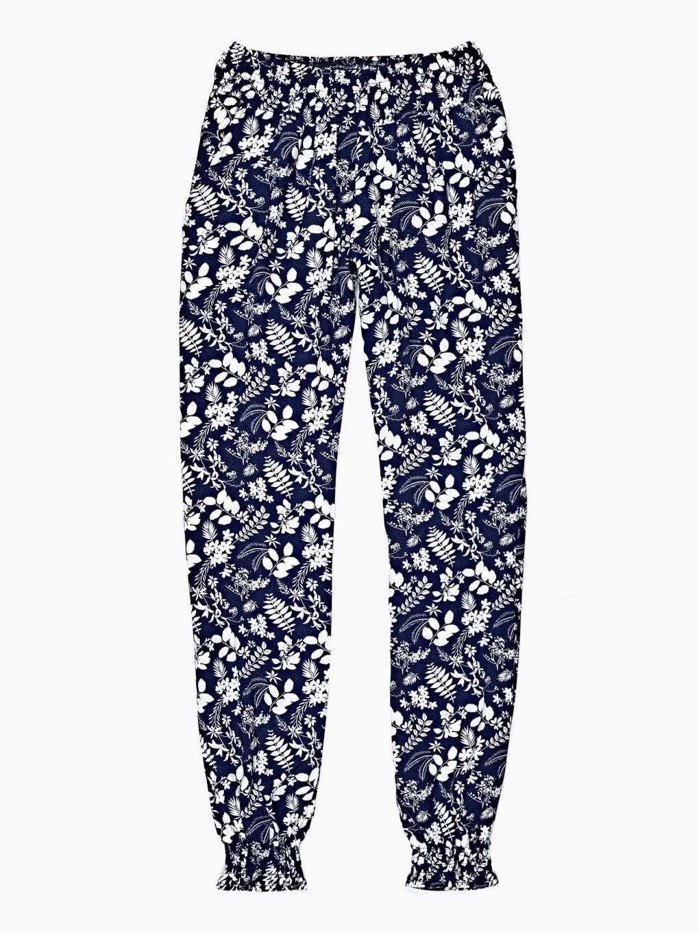 JOGGER TROUSERS WITH FLORAL PRINT
