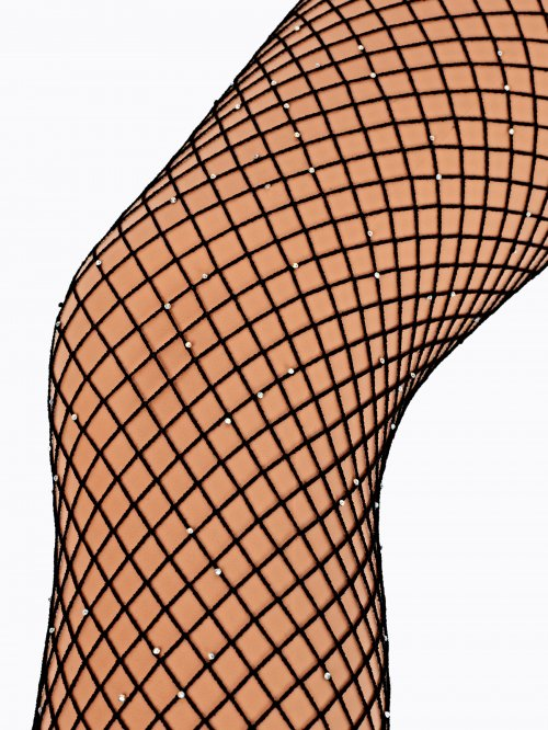 FISHNET TIGHTS WITH STONES