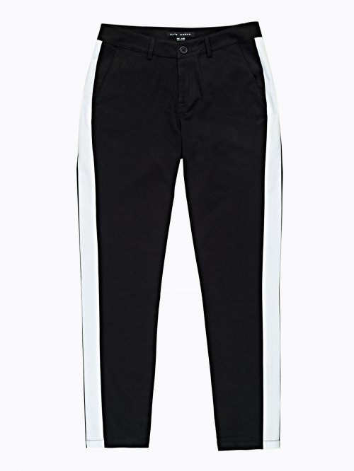 Chino trousers with side panel