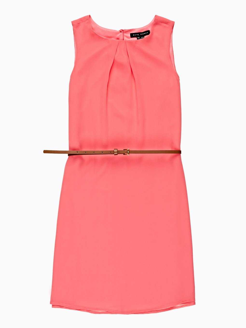 Sleeveless chiffon dress with belt