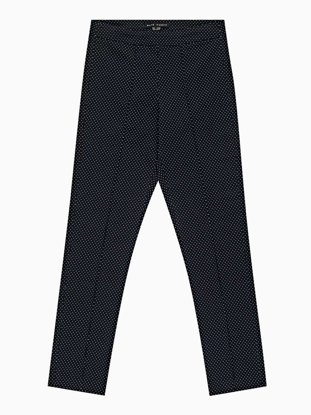Polka dot print slim fit trousers