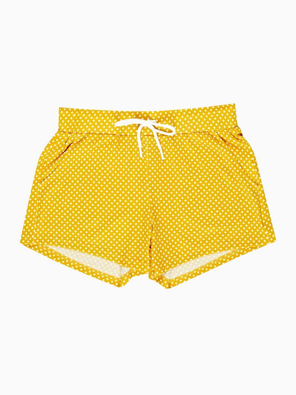 Polka dot print sweat shorts