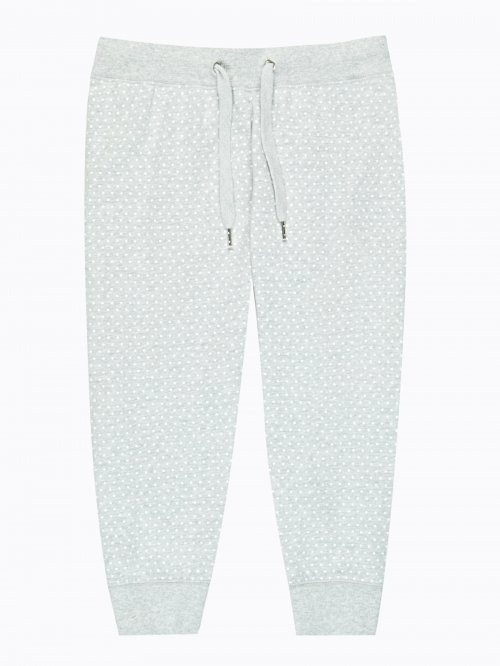 3/4 leg polka dot print sweatpants