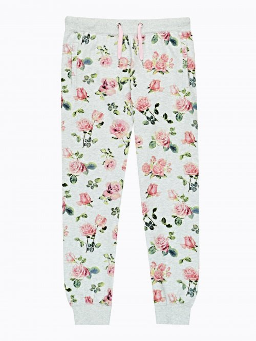 Floral print sweatpants