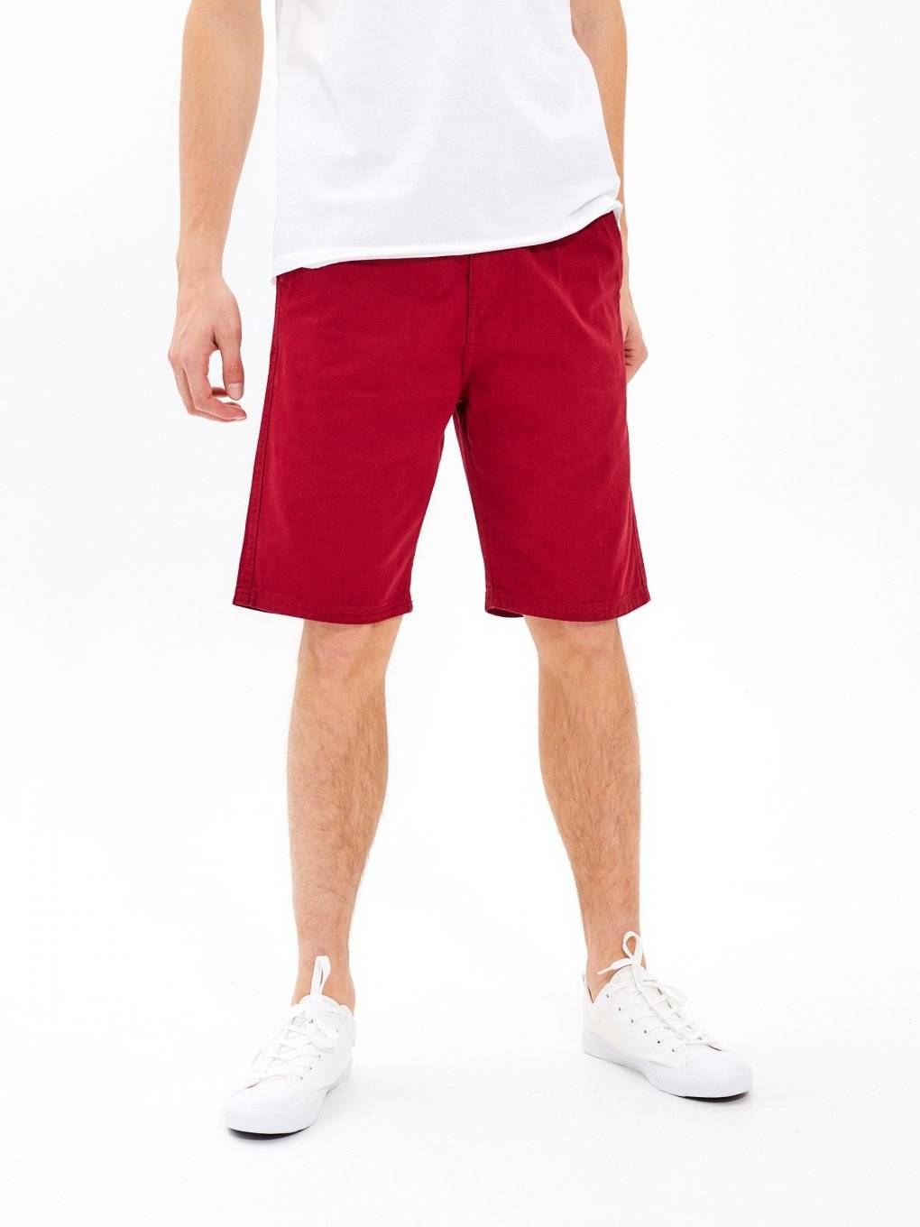 Basic cotton twill shorts